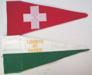 Fanions Suisse et Vaud