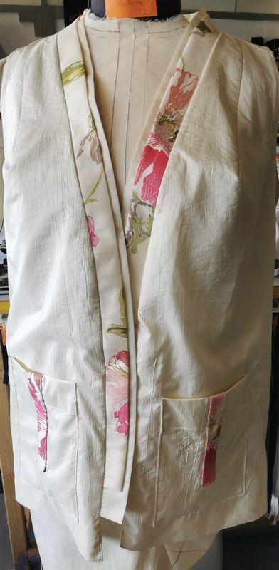 Gilet kimono soie